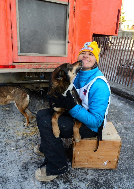 Mon équipe pendant l'Iditarod 2014 - My team during Iditarod 2014 - Bering Sea.