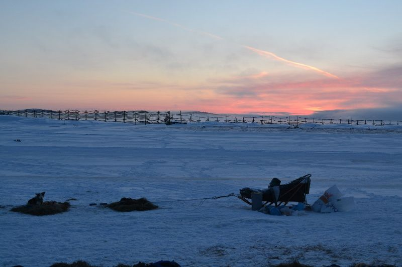 Sunrise in Unalakleet.
