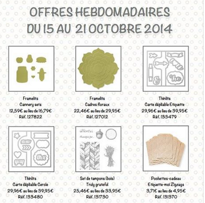 promotion du 15 au 21 octobre