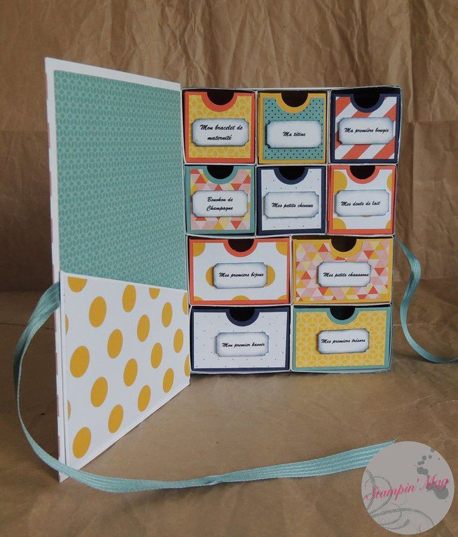 Boite De Naissance Tuto Stampin 39 Up Laurence D Monstratrice