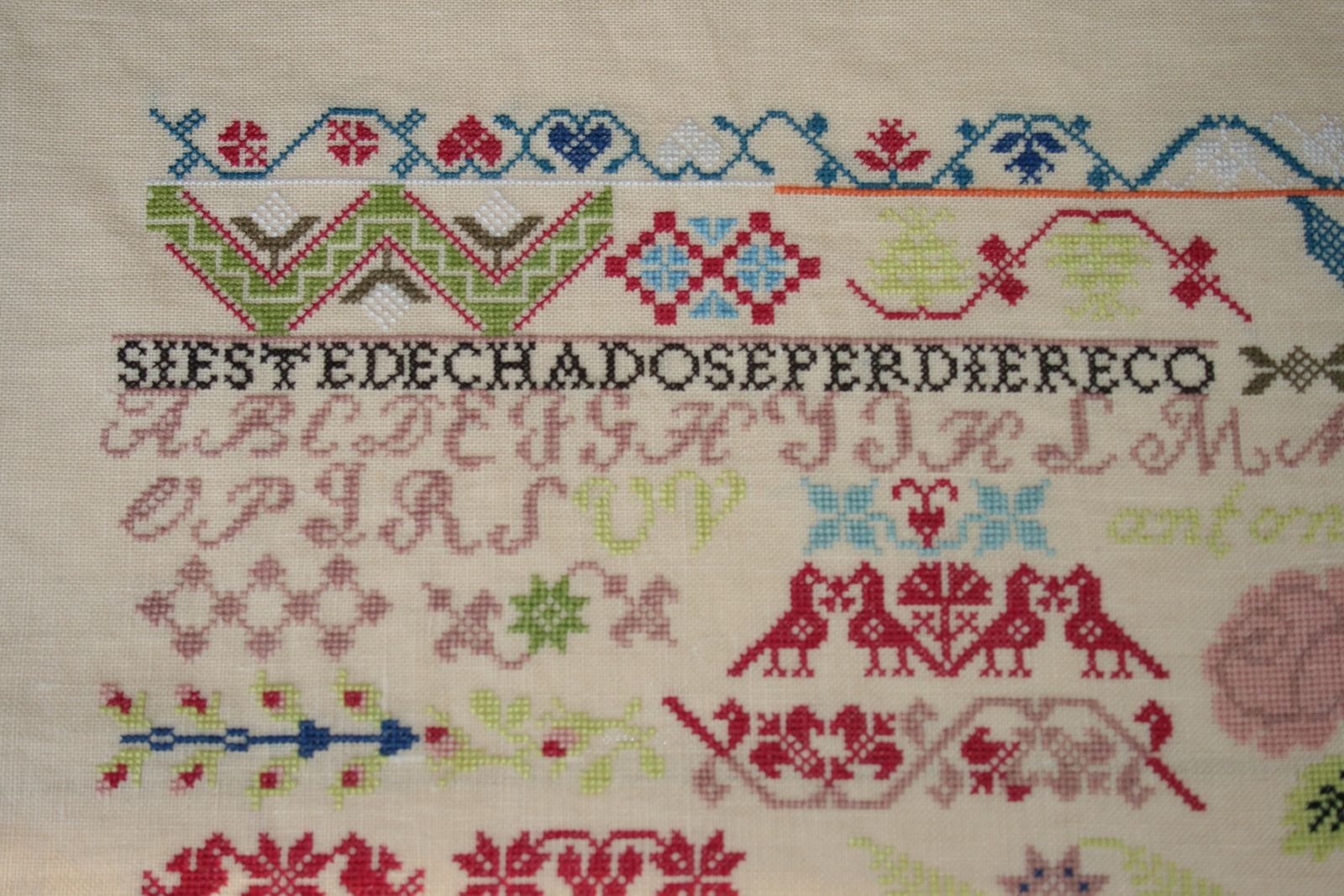 Mexican School practice 1830, Samplers Remembered
