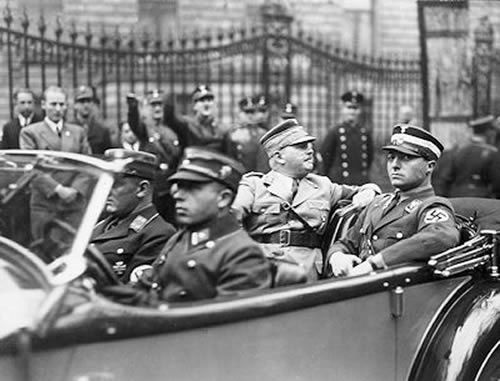 SA leaders  (rear seat looking backwards) and Karl Ernst enjoying the pomp and circumstance of power