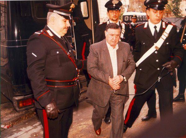 Toto Riina lors de son arrestation