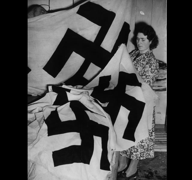 """""""The British liked that Germany was very clean,"""" says Johnson. Swastika flags were even produced at Darenth, in Kent, until 1940."""