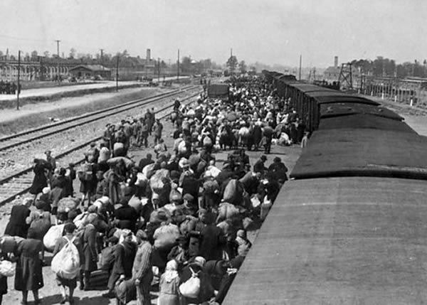 Jews from across Europe were transported by train to extermination camps. Those not selected for work were usually dead within hours of arriving.