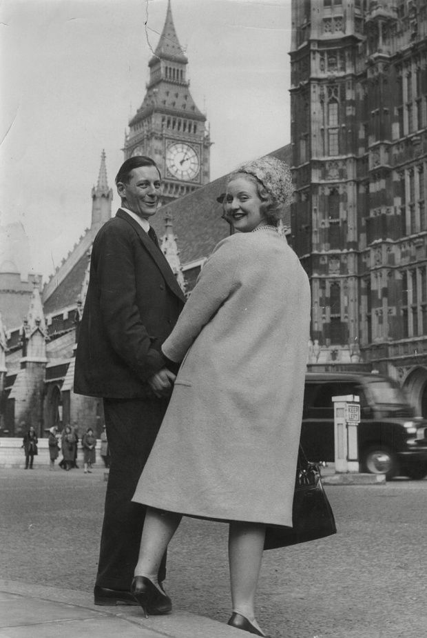 Lubbock with his wife Kina at Parliament in the 1960s