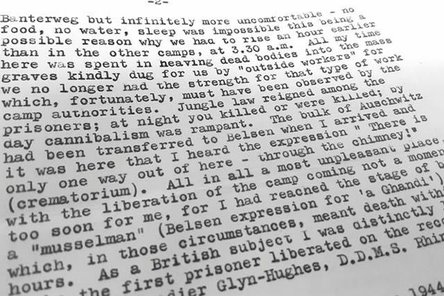 Harold's description of what he went through as a prisoner of Nazis