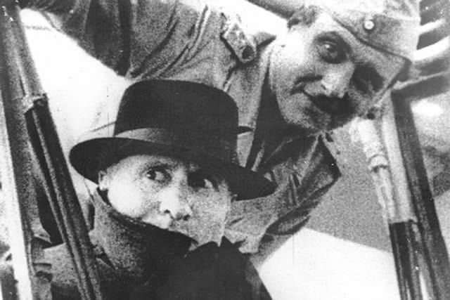 Benito Mussolini shortly after his rescue by German military commander Otto Skorzeny