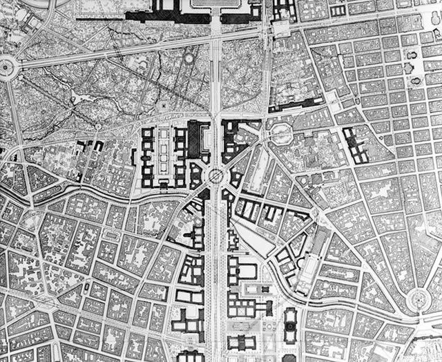 Plans for Germania involved tearing down huge sections of Berlin to build a complex new systems of buildings and roads