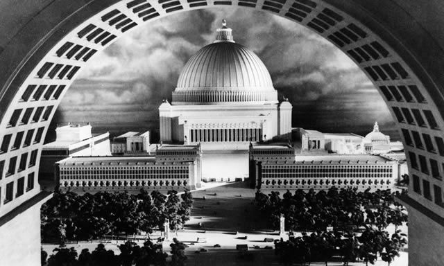 Germania's Great Hall was designed by Hitler and his chief architect, Albert Speer, to be the largest covered space in the world and the centrepiece of the Third Reich's capital