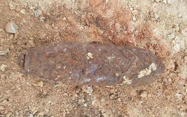 La bombe a été découverte au Bourg-Dessus