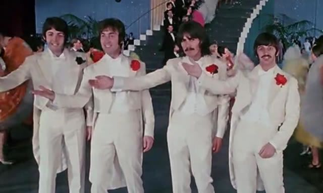 The Your Mother Should Know scene from the Beatles film, Magical Mystery Tour, 1967, in which Peggy Spencer's dancers backed the Fab Four