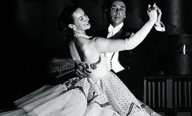 Peggy and Frank Spencer dancing in 1970 at the Royston Ballroom, Penge