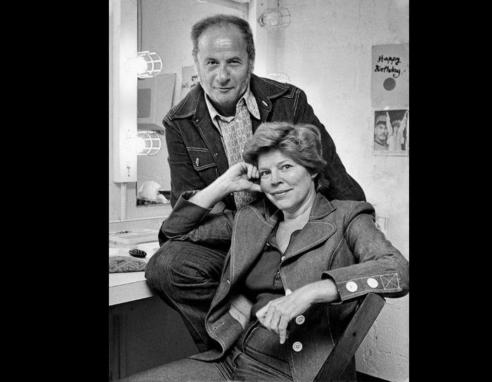 The volatility that characterized much of Ms. Jackson and Mr. Wallach's stage work often carried over into their dressing rooms. The couple in 1973