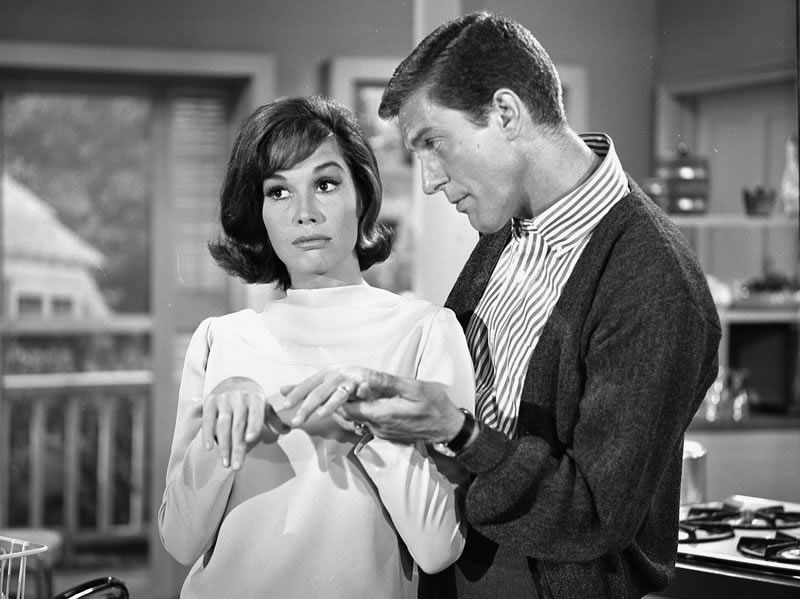 From 1961 to 1966, Moore played opposite Dick Van Dyke on The Dick Van Dyke Show. In 2011, Van Dyke told NPR he thought they had a bit of a crush on each other while filming the show