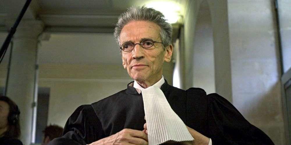 Thierry Lévy en 2003 au tribunal correctionnel de Caen, pour y défendre Patrick Henry