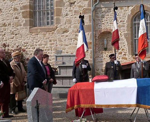 Le dernier hommage rendu à Albert Dauriac./Photo DDM M. S.