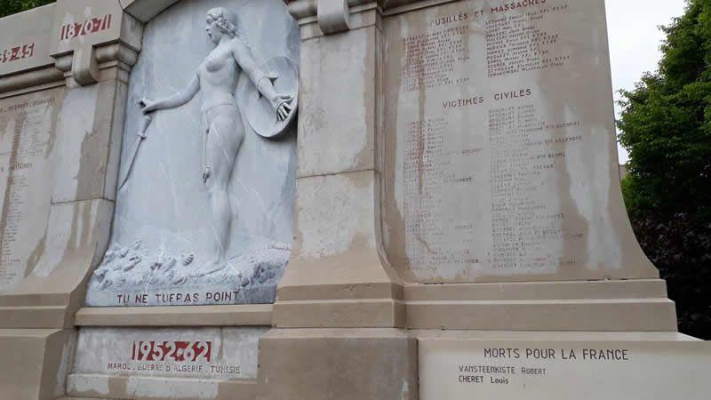 Le monument avionnais, place des Anciens-Combattants, porte désormais le nom de Louis Chéret.