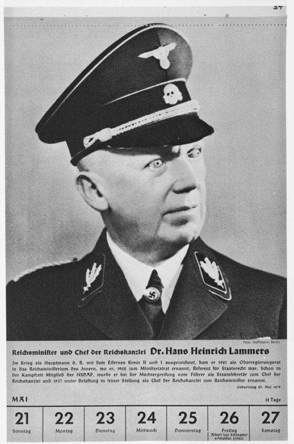 Portrait of Reichsminister Hans Heinrich Lammers