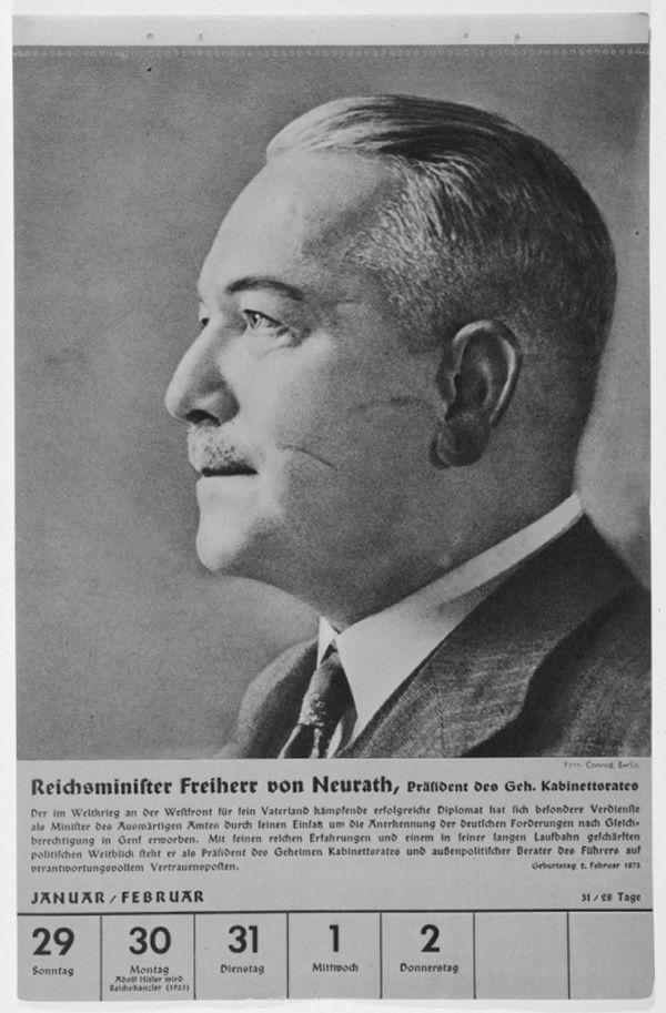 Portrait of Reichsminister Constantin Freiherr von Neurath