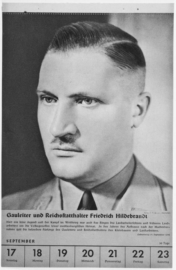 Portrait of Gauleiter und Reichsstatthalter Friedrich Hildebrandt