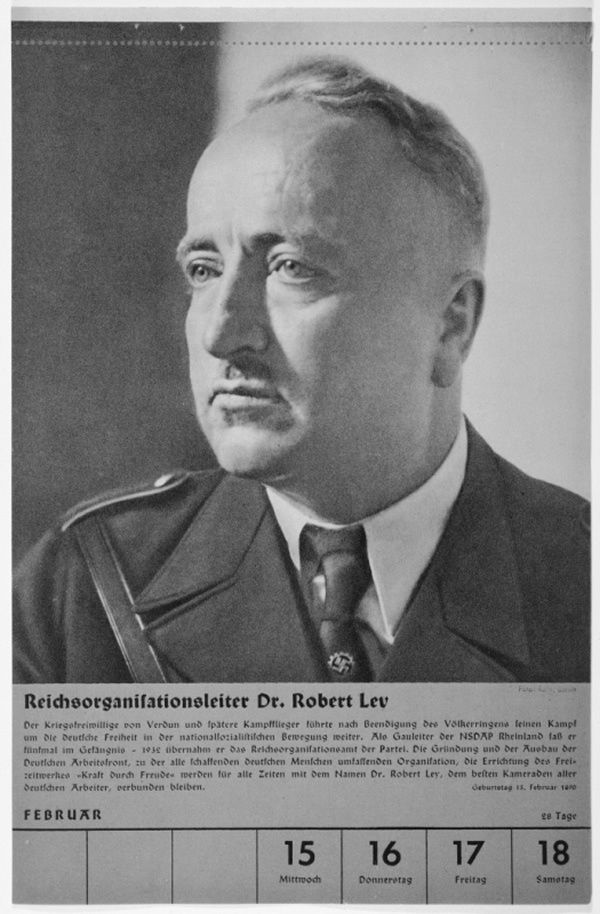 Portrait of Reichsorganisationsleiter Dr. Robert Ley