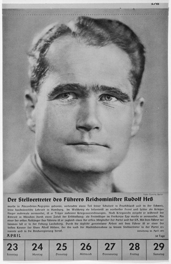 Portrait of Reichsminister Rudolf Hess
