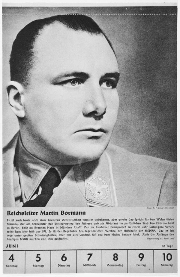 Portrait of Reichsleiter Martin Bormann