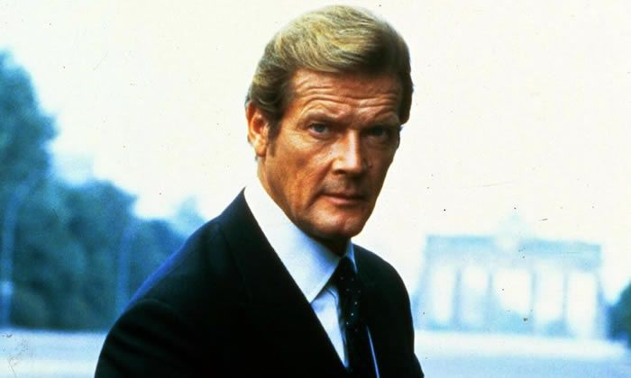 'For me it's been 99% luck' … Roger Moore, who has died.