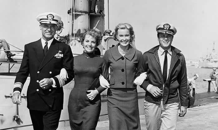 Merrill, third from left, with Cary Grant, Joan O'Brien and Tony Curtis in Operation Petticoat. Photograph: John Springer Collection/Corbis via Getty Images