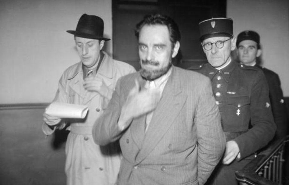 Photo prise en novembre 1946 lors de l'arrestation du docteur Marcel Petiot (c) — Archives AFP