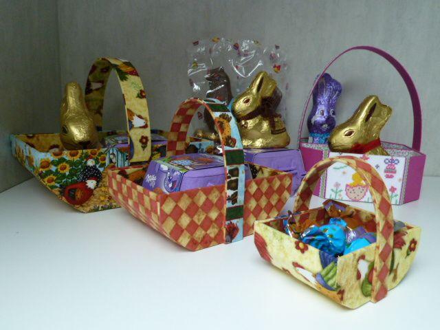 Paniers de Pâques... et chocolats !!