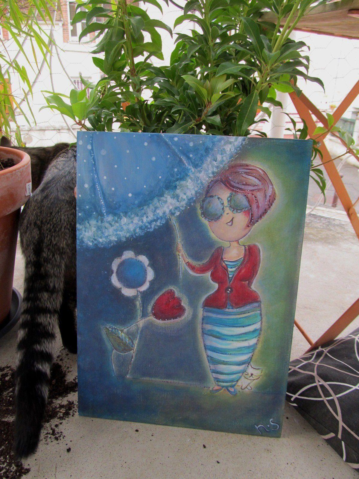 15°) Tableau offert par Nathalie, de Ombrelle créations ==> VENDU !