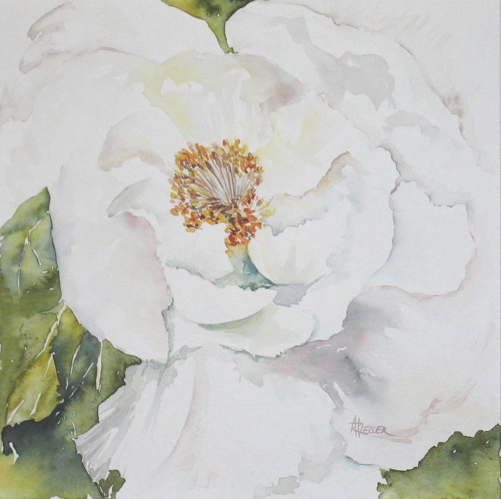 13°) Fleur à l'aquarelle offerte par Ark