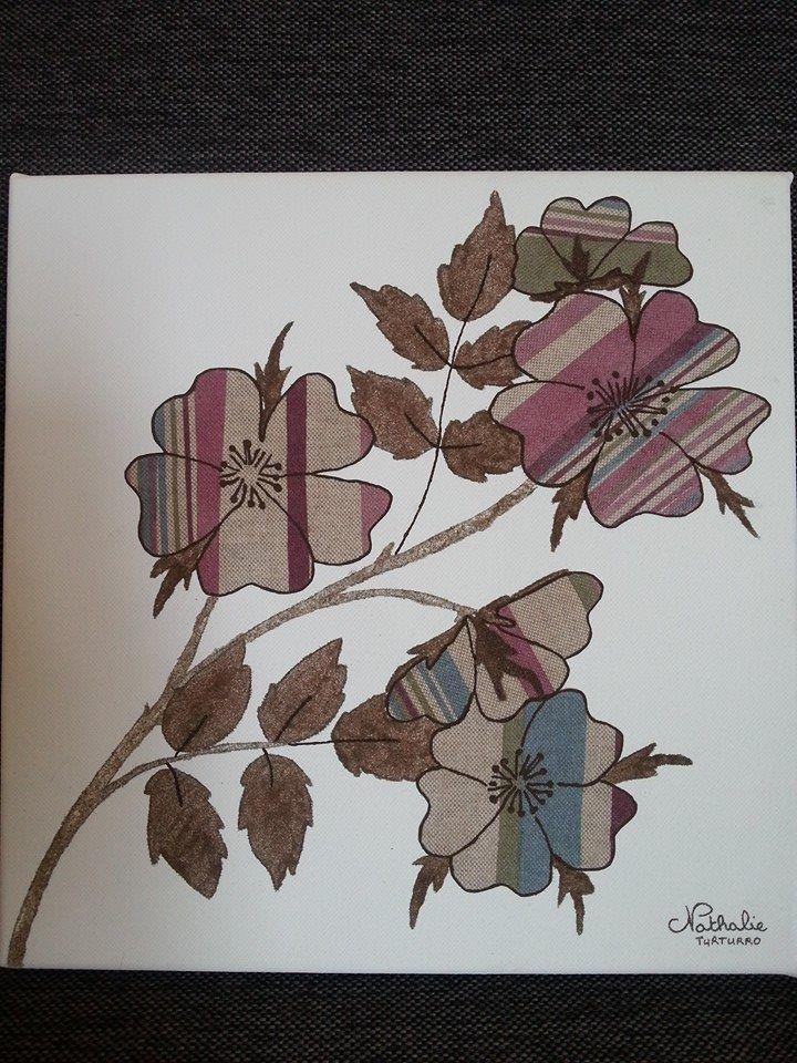 40°) Tableau Fleurs par Les Nuances de Nathalie