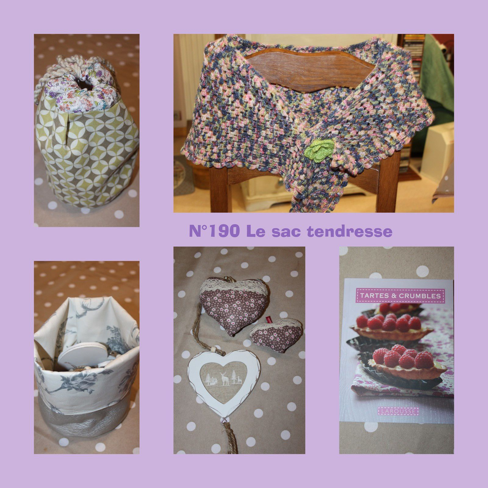 N°190 Le sac Tendresse pour 4ine