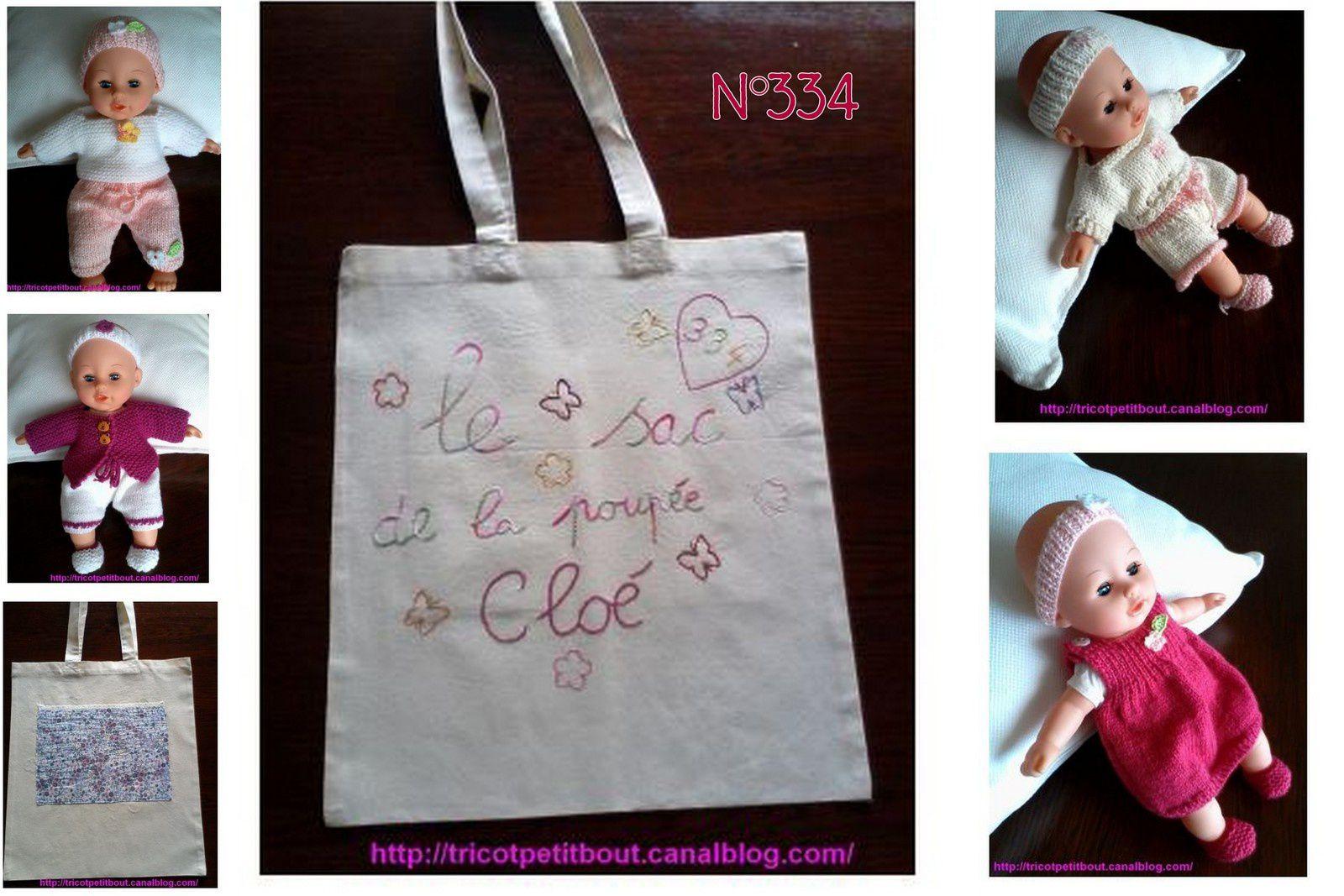 N°334 Le sac de la poupée Cloé : VENDU !