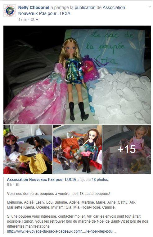 Concours : Le Noël des poupées pour Lucia : victoire du sac de la poupée LARA !