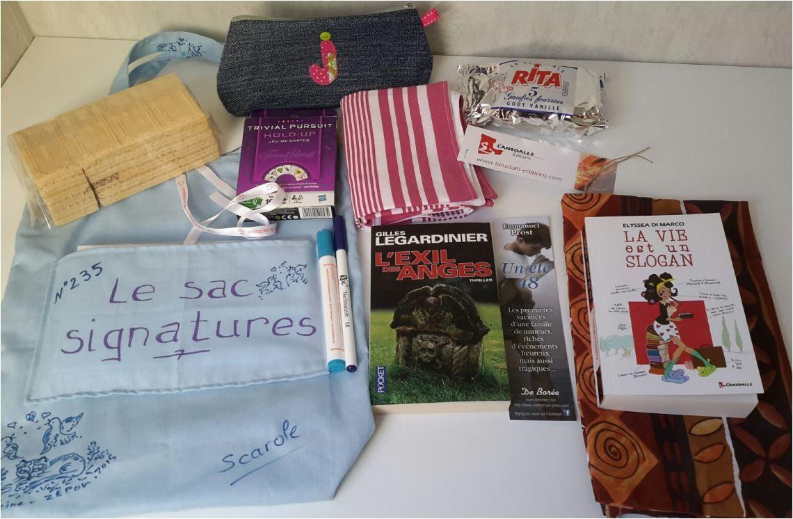 N°235 Le sac signatures avec l'exil des anges : pour Julie