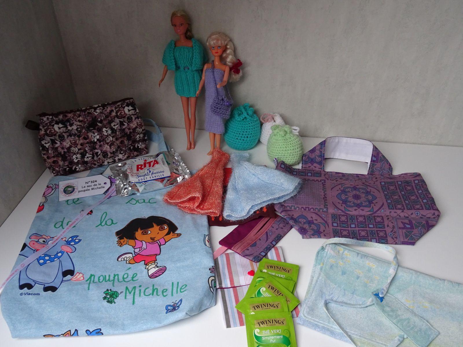 N°324 Le sac de la poupée Michelle : pour Michelle N