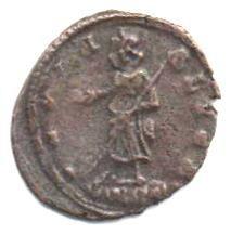 Monnaies d'Hélène, mère de l'empereur Constantin,sainte de l'Eglise catholique.