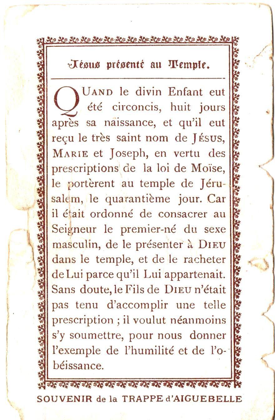Imagerie d' Aiguebelle (Drôme).