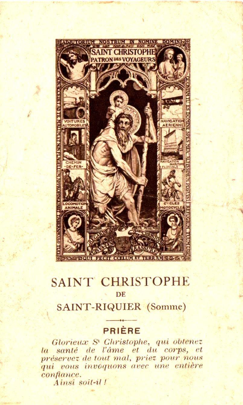 Saint Christophe de Saint-Riquier (Somme).