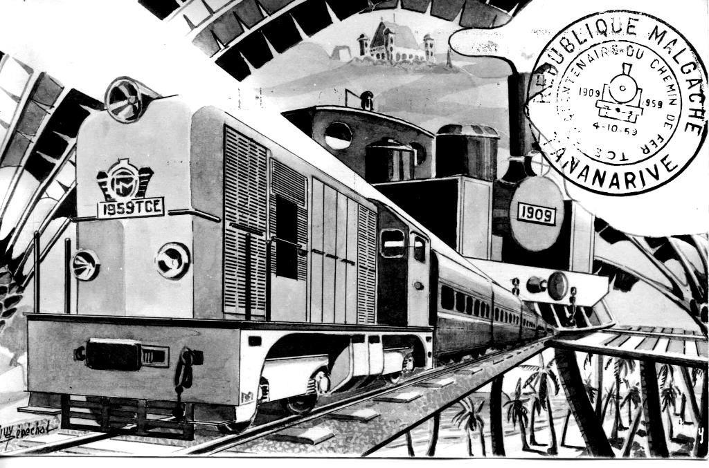 Madagascar. Centenaire du chemin de fer (1959).