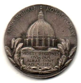 Pie XI, médaille de 1925.
