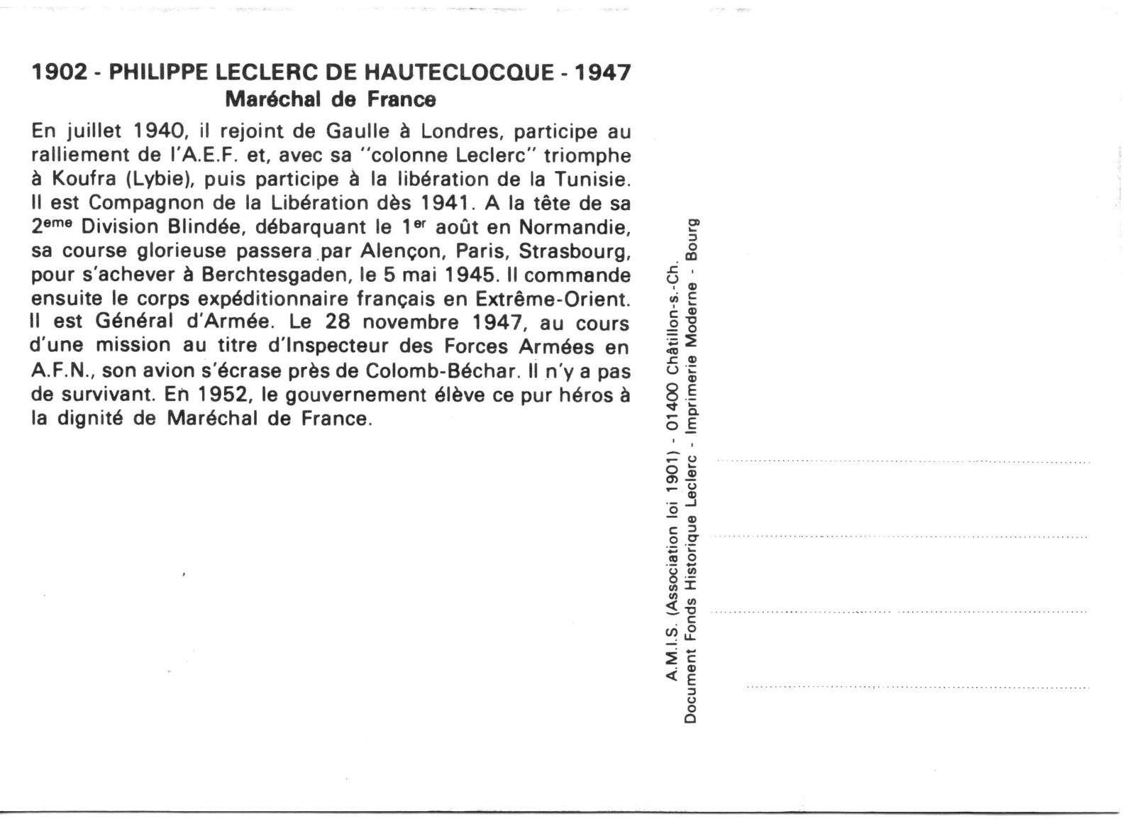 LECLERC DE HAUTECLOQUE