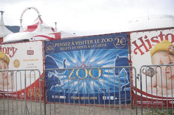 Cirques à Aix-les-Bains: communiqué de Amis des Bêtes