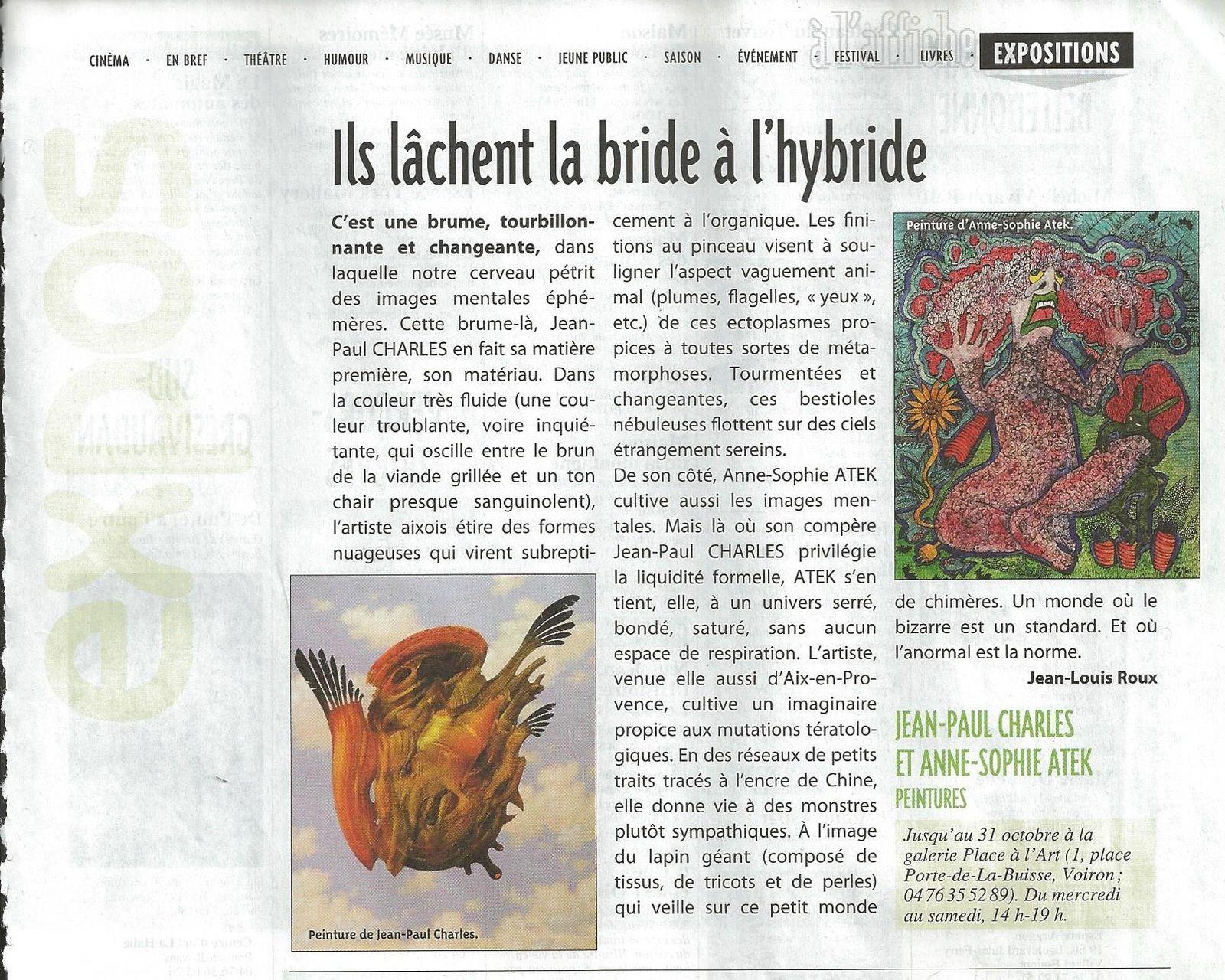 Article Anne-Sophie Atek & Jean-Paul Charles