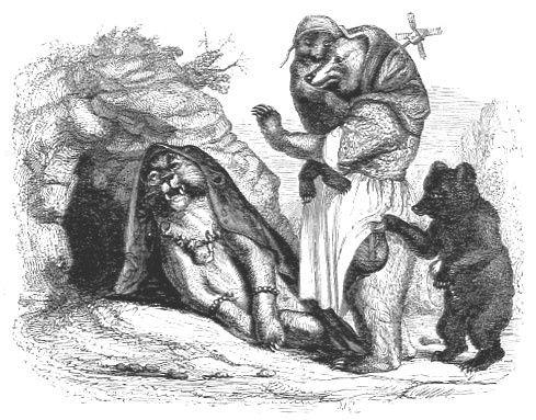 La lionne et l'Ours