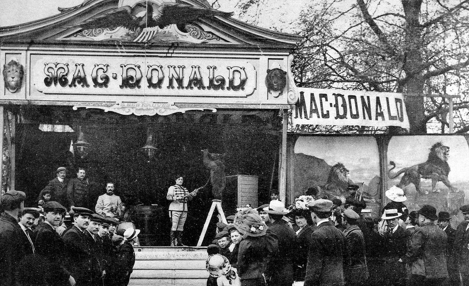 Le dompteur Mc Donald (1876-1942)
